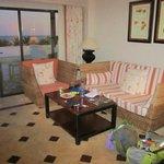 Ocean view junior suite living area