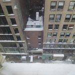vista da rua da janela