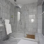 Italian Carrera Marble in all Bathrooms
