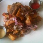 Chicharron - fried pork belly (available as a Friday special)