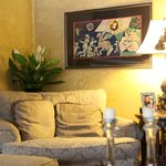 Living Room Sofa & Artwork