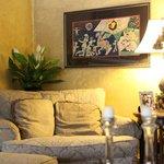 Living Room Sofa & Artwork
