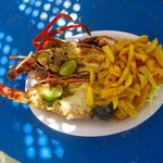 Lobster we had on the beach