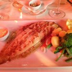 Grilled Dover Sole with mixed vegetables