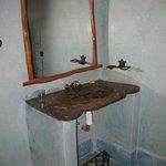 Le lavabo de la chambre