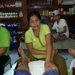 Good massage auntie. RESPECT!