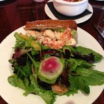 Lobster Roll and salad