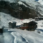 Blatten seen from skilift to furi