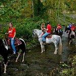 Trail ride through the creek