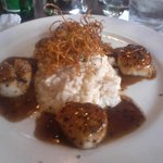 Pan-seared scallops and risotto