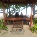 prive hutje aan het strand
