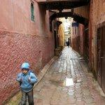 il vicolo della Medina di Meknes dov'è ubicato il riad