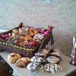 Desert Buffet with homemade Easter Bunny's