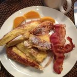 French toast and bacon