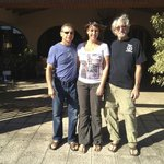 George and Us in front of Alegria B&B