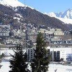 St Moritz vue de ma chambre