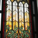 This is the stained glass window immediately next to our table--just one of many in this restaur