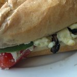 Grilled veggie panini-- more hoagie than panini, but still delicious