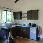 Küchenzeile in unserem Bungalow