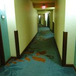 Corridors were noisey during our stay