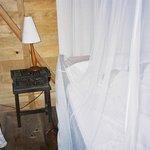 vue d'une des chambres de l'éco lodge