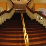 Grand staircase to the restaurant