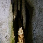 a stalactite prepared with cement... unfortunately the way around and in a completely strange pl