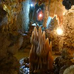 again an installation of stalactites and stalagmites in unnatural way