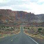 view headed to Capitol Reef National Park