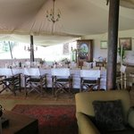 A fun place to dine with other guests and share stories