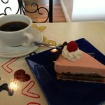 Torte Amore and fresh brewed coffee