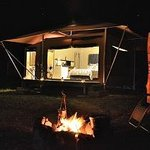 Nightfall at your luxury camp site