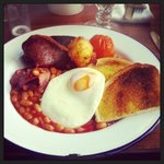 Full English (without mushrooms as I don't like them!)