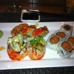 spicy tuna and spider roll