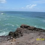 A view from on the rocks at Galera Point