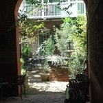 View from the front door looking into the courtyard