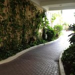 hotel walkway entrance