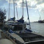 Our catamaran!