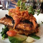 local Kolapore Trout blackened and so flavourful!