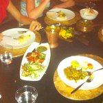 thai duck, beef vindaloo, paneer, dahl