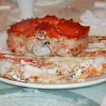 Freshly steamed Alaska King Crab