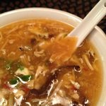 hot and sour soup. pretty spicy.