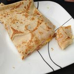 my son's crepe..I think it was eggs and ham