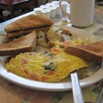 Yummy omelette at Downtown Cafe, Rochester