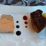 Entrée à base de foie gras