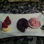 Dessert : chocolat et fraise