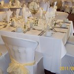 Function room set for wedding