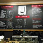 The coffee & drinks menue