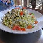 Salat ohne Fleisch oder Fisch