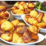 Superb Roast Potatoes accompanying the scrumptious main courses